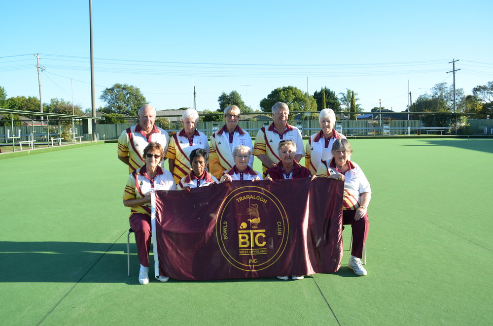 Tuesday Pennant Division 4 Runners-Up   Back row: Jim Overdyke, Carmel Smith, Pauline Morris, Rob Stephen & Marj Marsh.  Front row: Rita Flemming, Ines McClausland, Helga Muscat, Joyce Hales & Dianne Watson.
