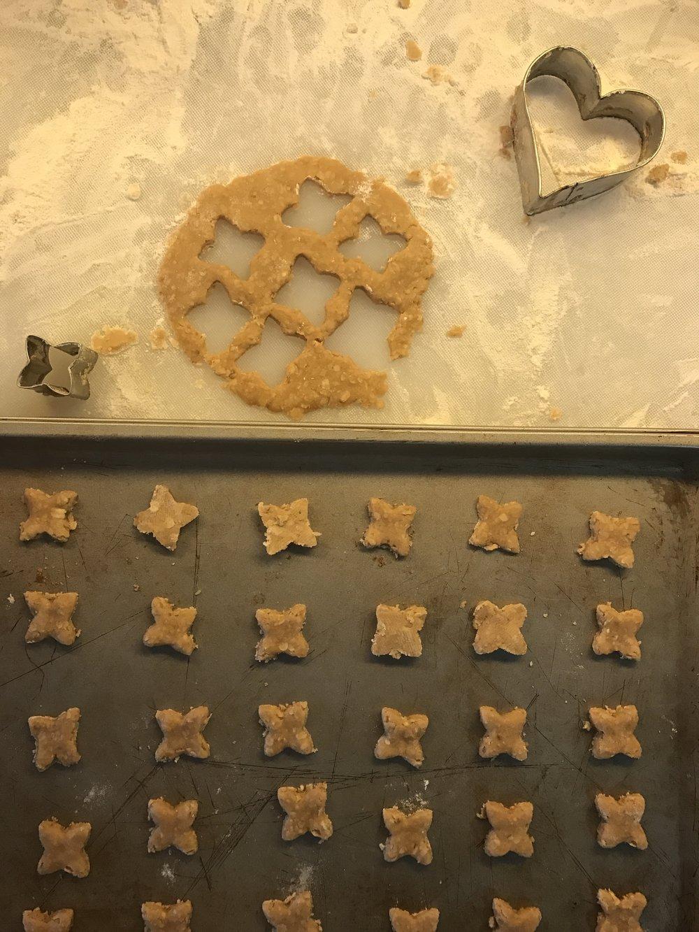 Cookie cutting :)