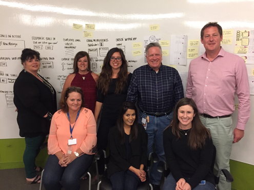 Our sprint team included employees from Marketing, Help Desk, Operations, and more.