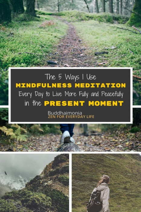 The 5 Ways I Use Mindfulness and Meditation Every Day via Buddhaimonia