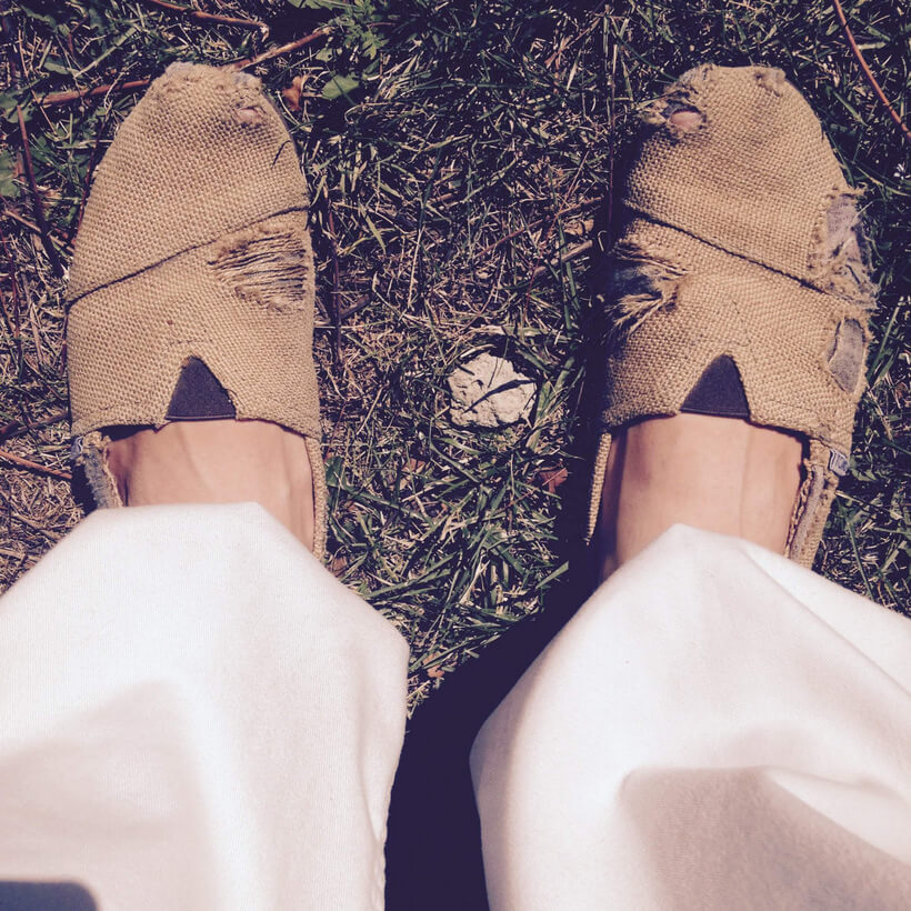 How an Old Beaten Up Pair of Shoes Helped Me Realize Freedom via Buddhaimonia