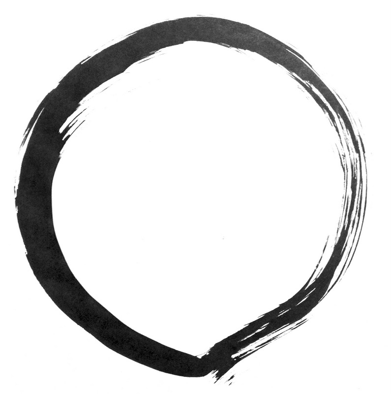 A traditional Zen calligraphy symbol called an enso. Drawing is one of my favorite morning rituals.