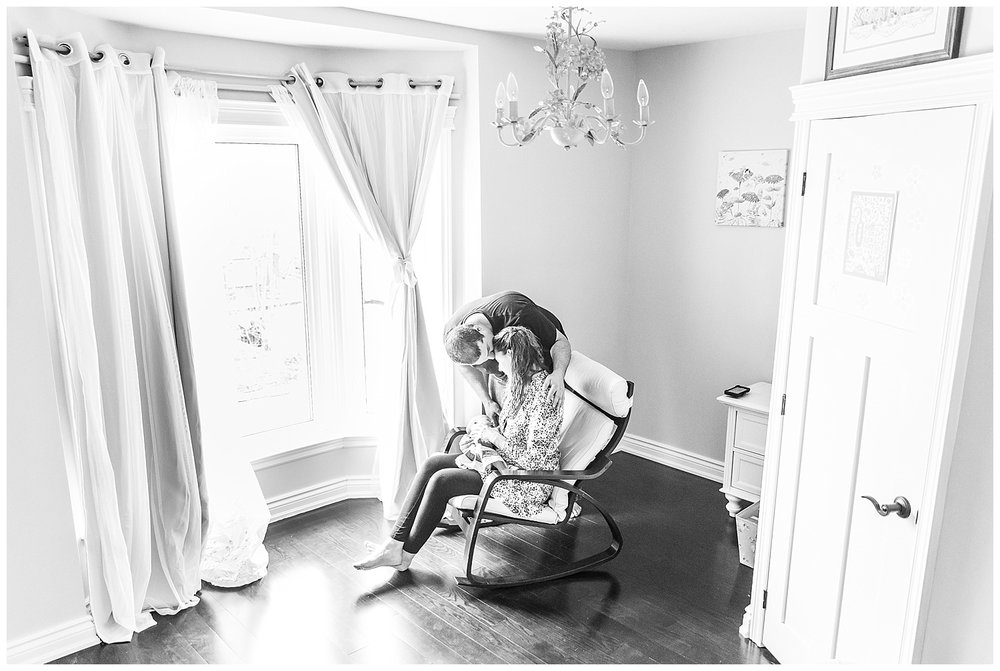 Black and White Newborn Photography Toronto