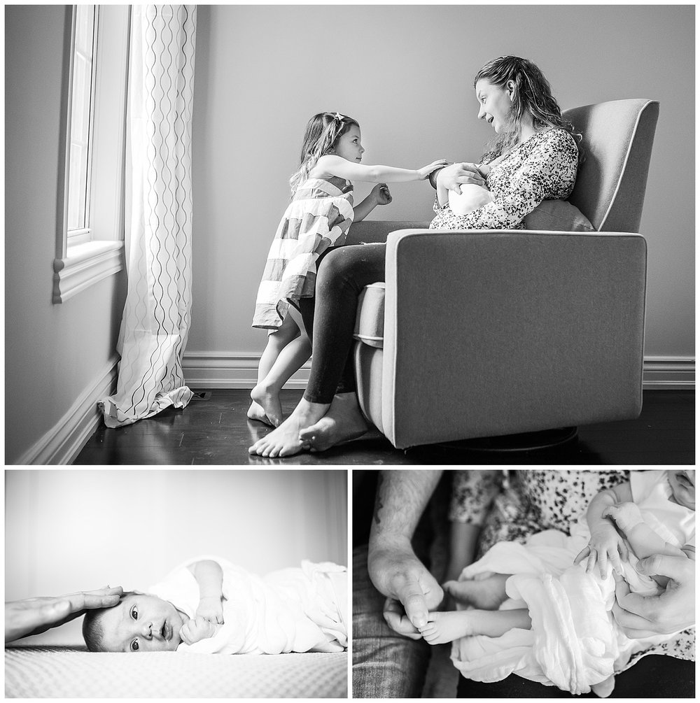 In-home lifestyle baby portrait session