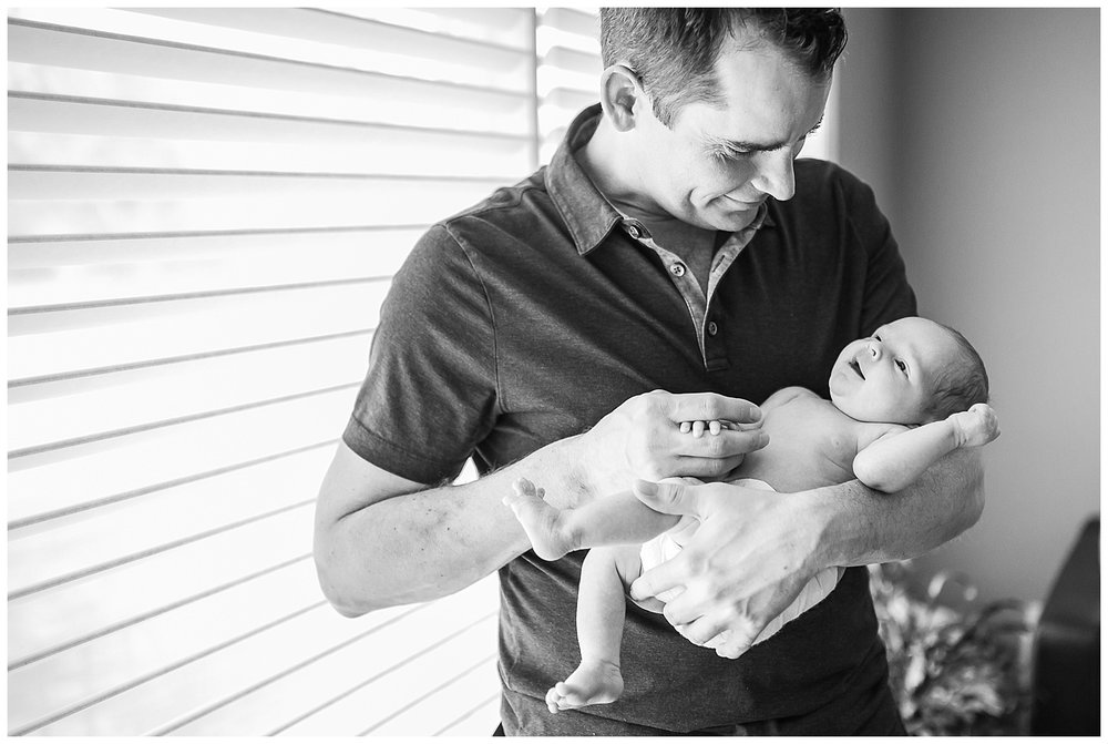 Mississauga Baby and Dad Newborn Portrait