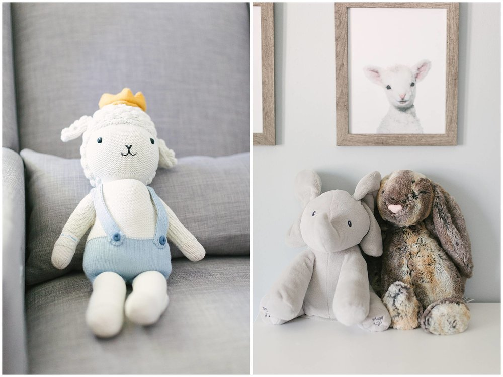 Baby Stuffed Animals in Modern Nursery