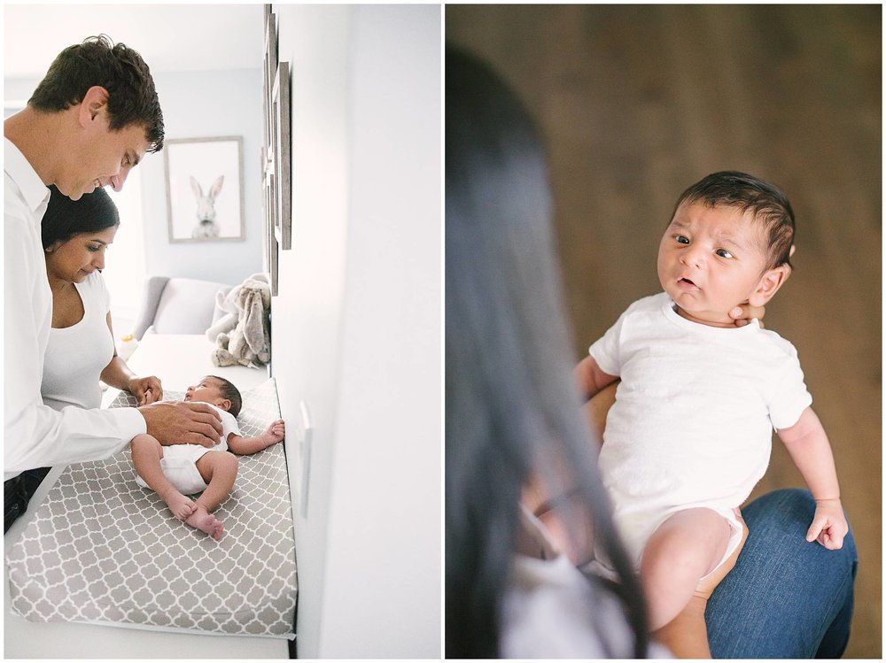 In-home natural newborn photographer bright and airy
