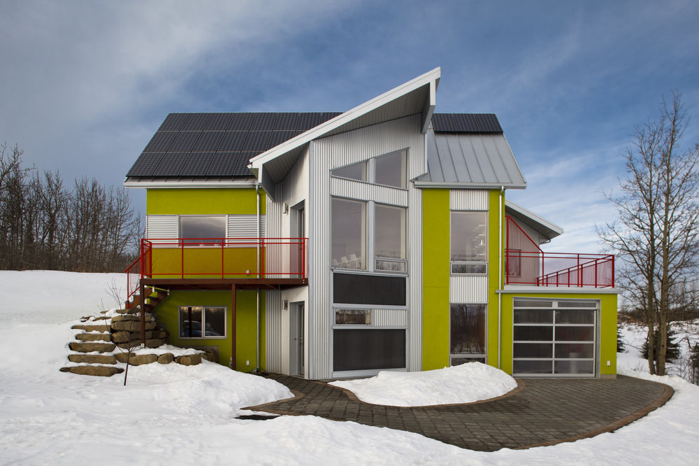 echohaven NetZero House, Calgary, AB.