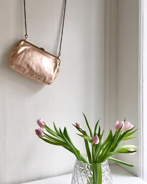 Roségold Clutch from fräulein rosarot - CHF 179 - For Her Evening Summers Out