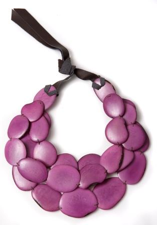 Tagua Necklace Lila from Atelier Avanzar - CHF 95 - For Her Natural Beauty
