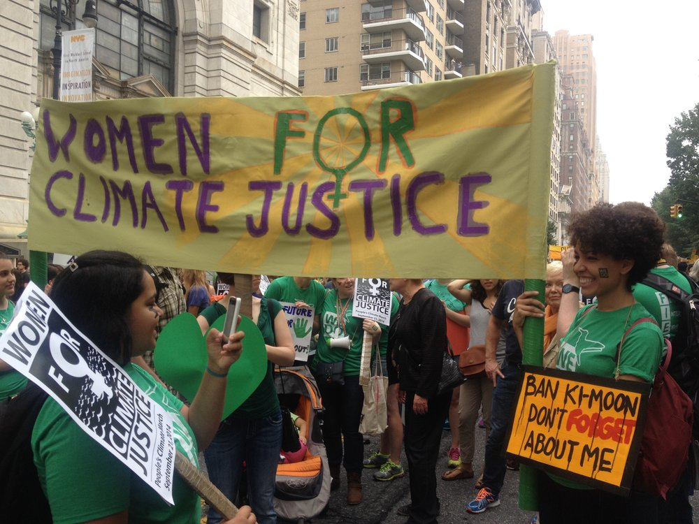 Image credit: Julie Gorecki. Image source: The Feminist Wire, <http://www.thefeministwire.com/2014/09/climate-justice-without-gender-justice-women-forefront-peoples-climate-march/>.