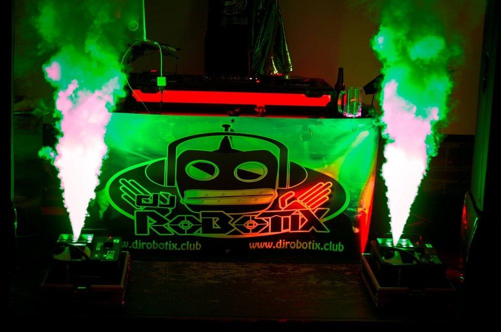 DJ Robotix brings a Fog Machine