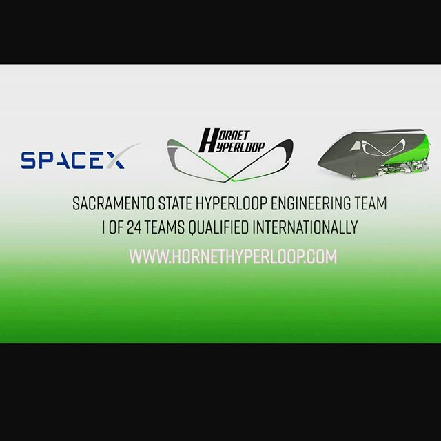 Stay in tune with Hornet Hyperloop as we compete in the Pod Competition this summer! #hornethyperloop #gohornets #sacstate #engineering #SpaceX #hyperloop