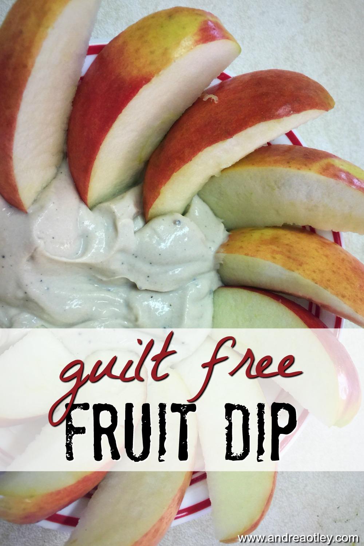 guilt free fruit dip