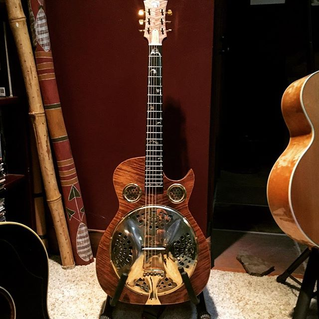 "This guitar was made for Jerry Garcia, who sadly passed before he could take delivery. You can hear it on ""Say You Will,"" and ""Words,"" which are on my new album,""At Your Feet."" #jerrygarcia #dobro #resonator #glennmusic #beatles #musicians #guitar #livemusic #newmusic #newsong"