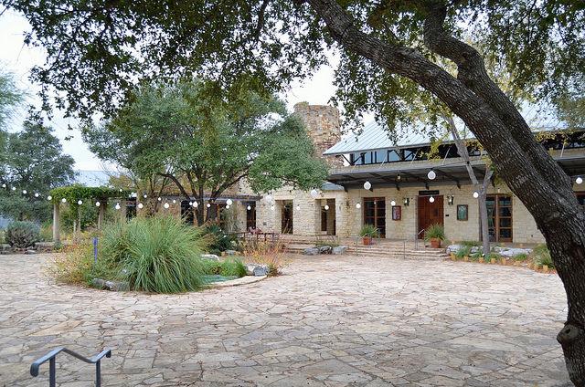 Courtyard at the Ladybird Johnson Wildflower Center. Austin, TX