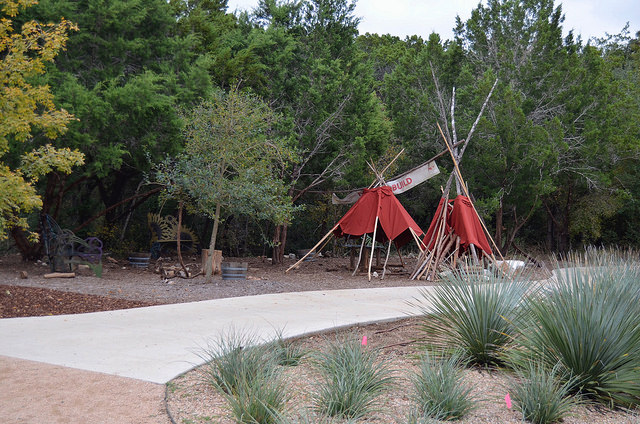 Play area at the Ladybird Johnson Wildflower Center in Austin, TX.