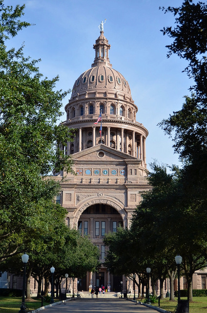 The Texas State Capitol in Austin, TX