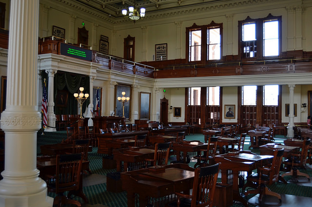Senate Chamber in the Texas Capitol, Austin, TX