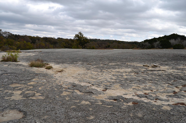 Limestone expanse at McKinney Falls State Park