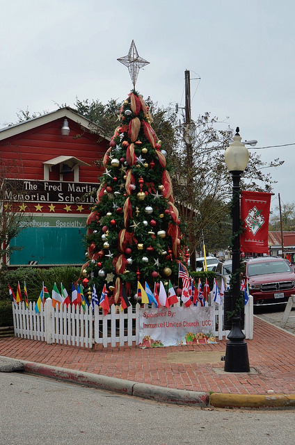 Christmas tree in Old Town Spring, TX