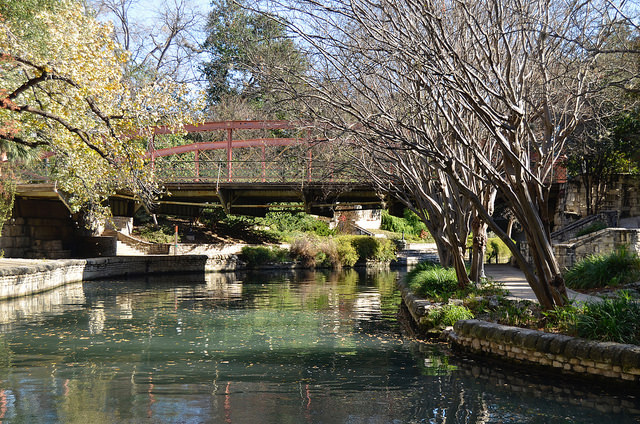 One of many photo worthy bridges along the River Walk.