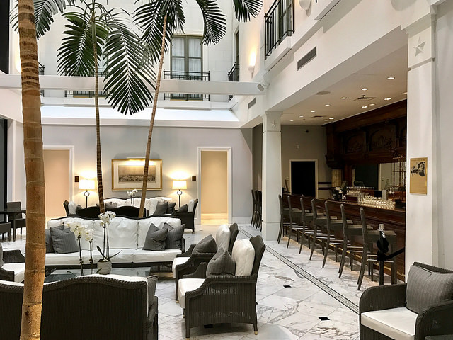 Lobby and bar of The Tremont House.