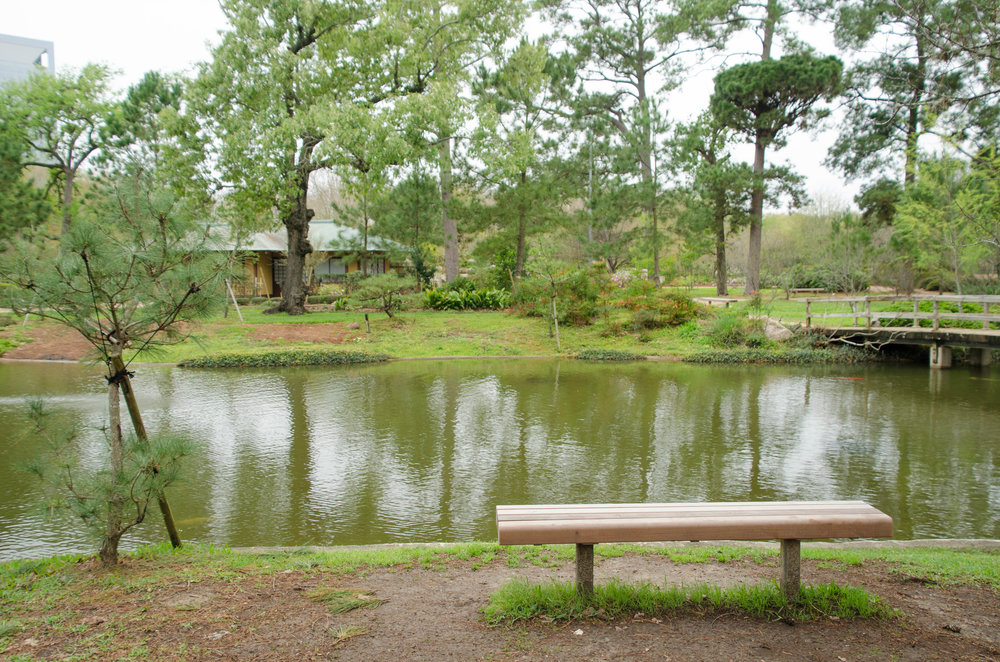 Houstonu0027s Japanese Garden Satisfies With All The Expected Features; Stone  Lanterns, Wooden Bridges, Flowing Water, A Tea House, Some Very Large Koi  And Even ...