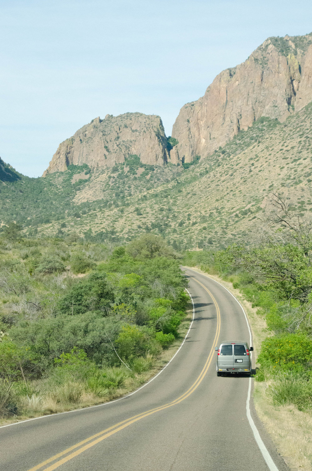 Driving up into the Chisos Mountains