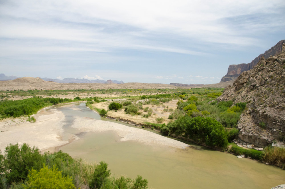 Looking down on the Rio Grande from the Santa Elena trail