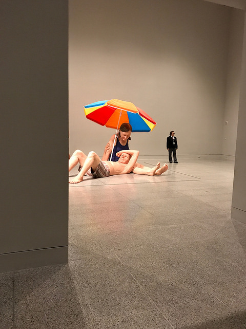 Although not the largest of Ron Mueck's sculptures, it is the largest of this exhibit.
