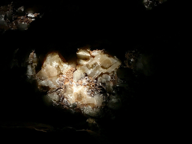 This part of the cavern is named Crystal City. The walls on both sides are covered in these beautiful calcite crystals. It seems there was some disappointment when the CCC workers found out. They thought they had discovered an area filled with diamonds.