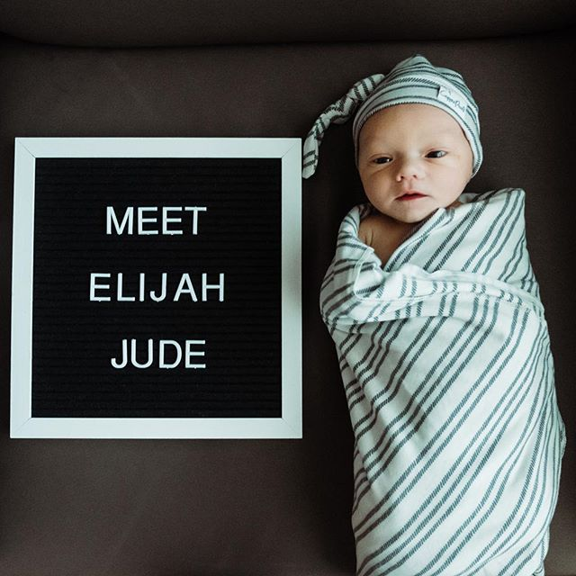 Elijah Jude is ready to meet the world! Eli joined us on September 29th at 12:59pm. He is healthy as can be and his best qualities are his snuggles and his good looks 😎 Meg is recovering very well and we are both already very much in love with this little guy and his big purpose