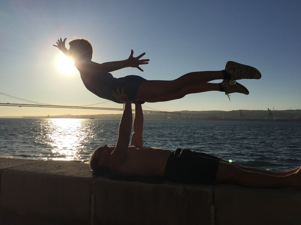 AcroYoga in the Beach