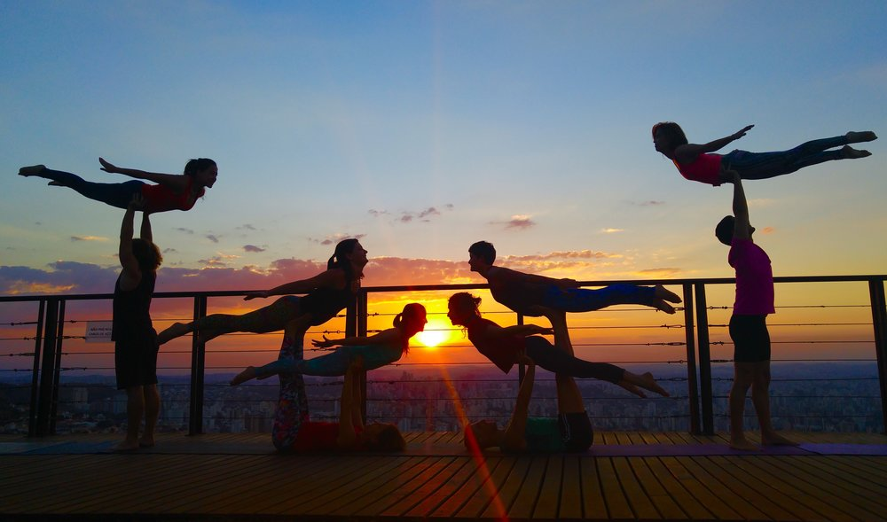 AcroYoga by the Sunset 3