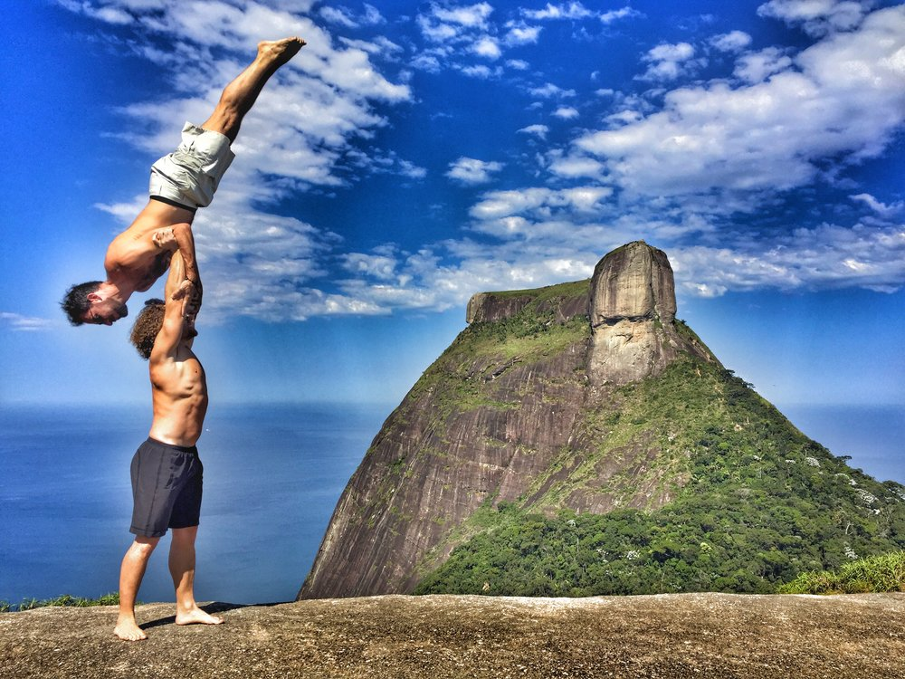AcroYoga at the top