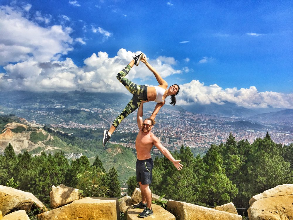 AcroYoga in the Mountains 2