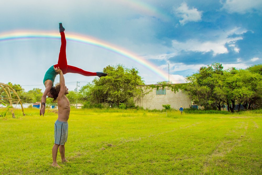 AcroYoga and Rainbows 2