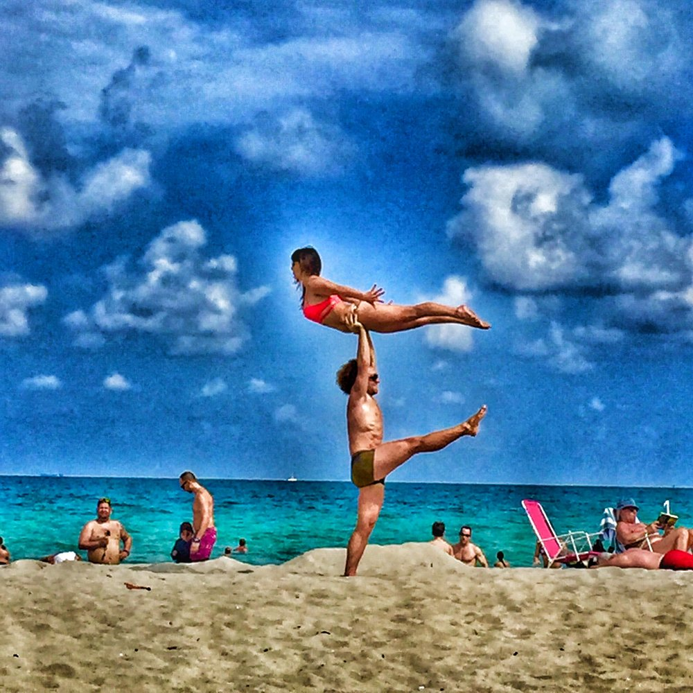 AcroYoga at the Beach