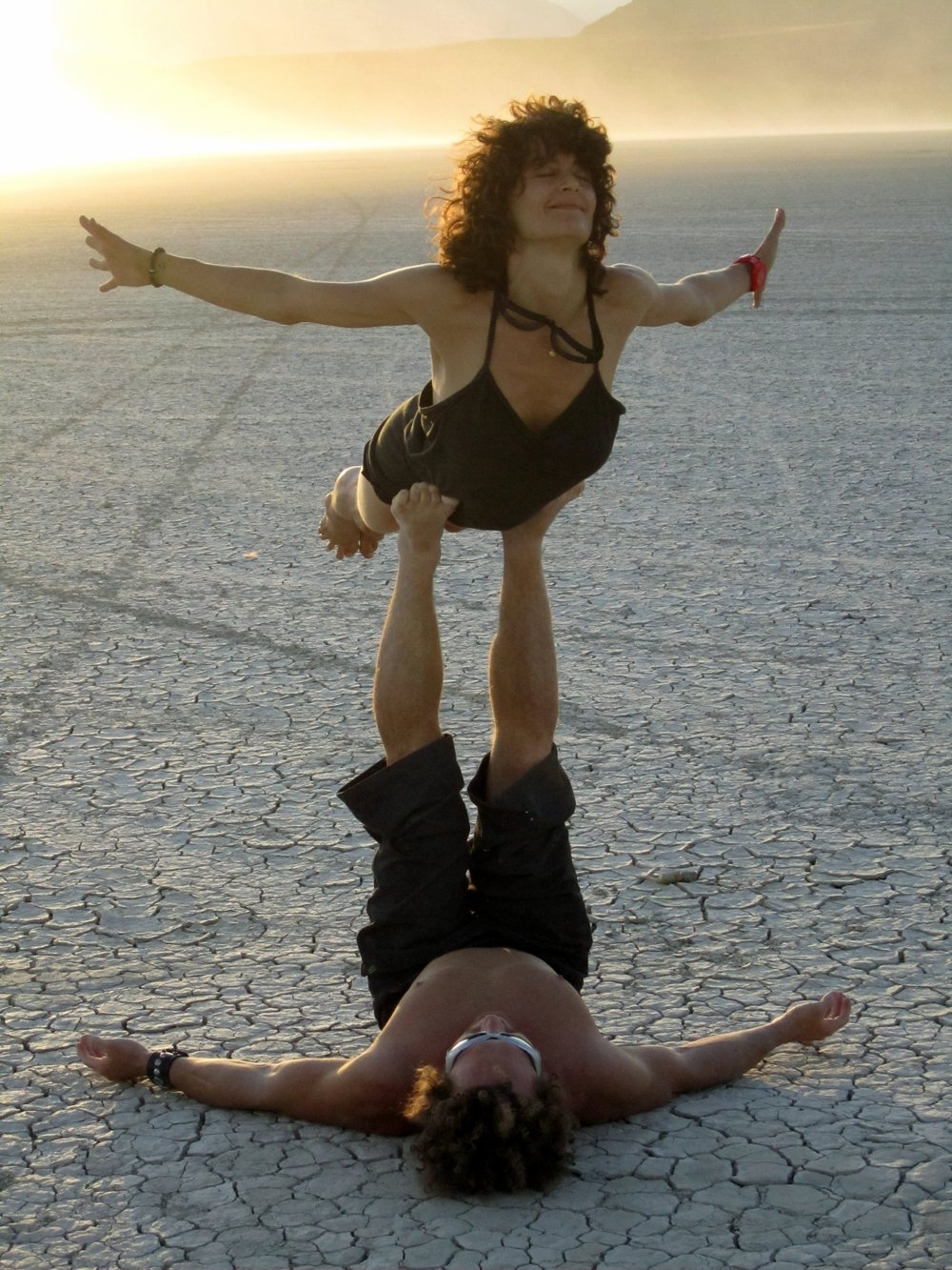 AcroYoga in the Desert
