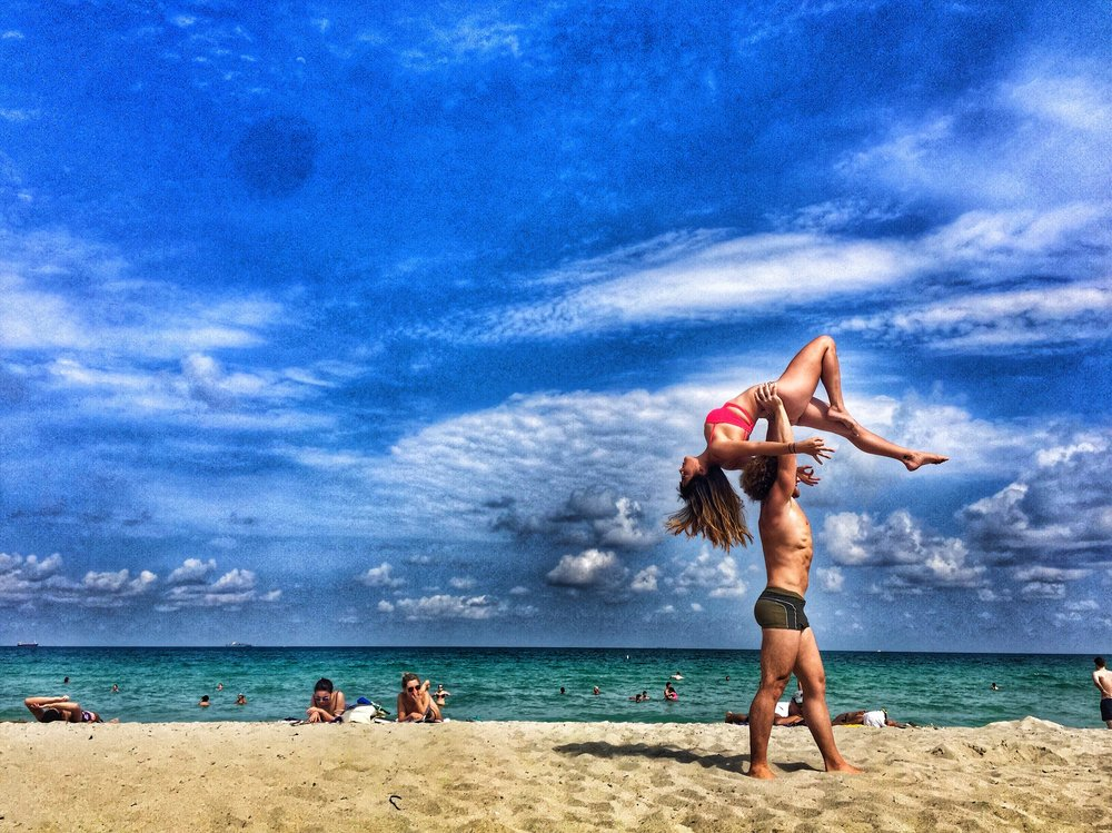 AcroYoga at the Beach 5