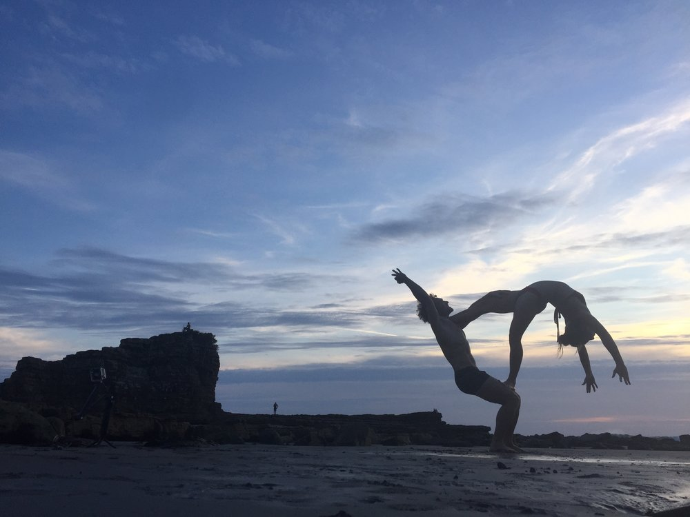 AcroYoga by the Ocean 6