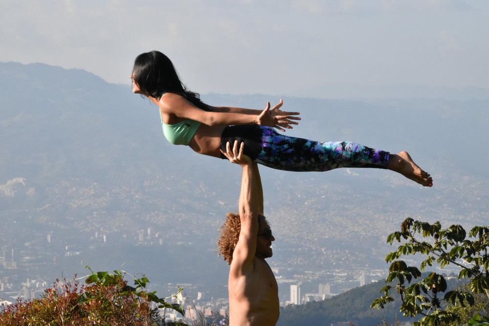 AcroYoga in the Mountains 5