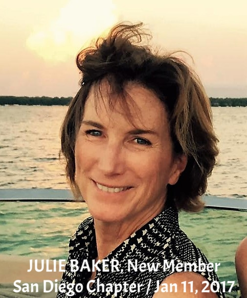 New Member JULIE BAKER, San Diego Chapter, January 11, 2017