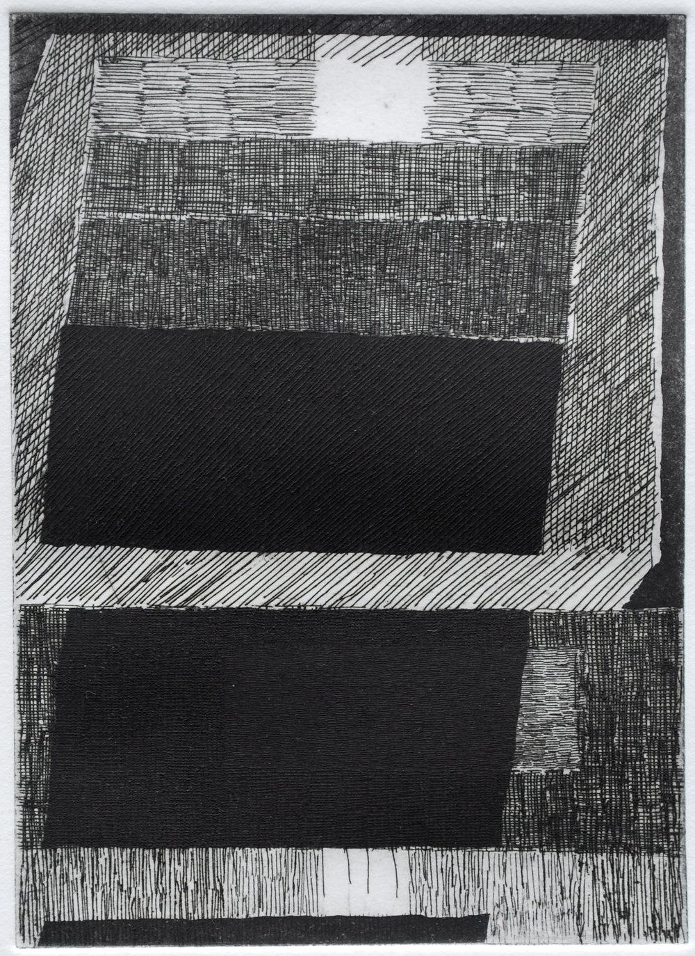 etching, 7 x 5, 2017