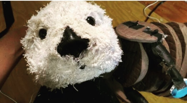 Ommie the Otter (in progress) crafted by Stephanie Elgersma