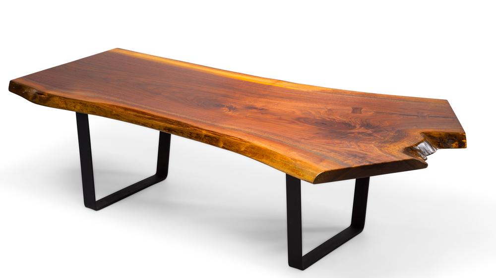 unique live edge black walnut coffee table