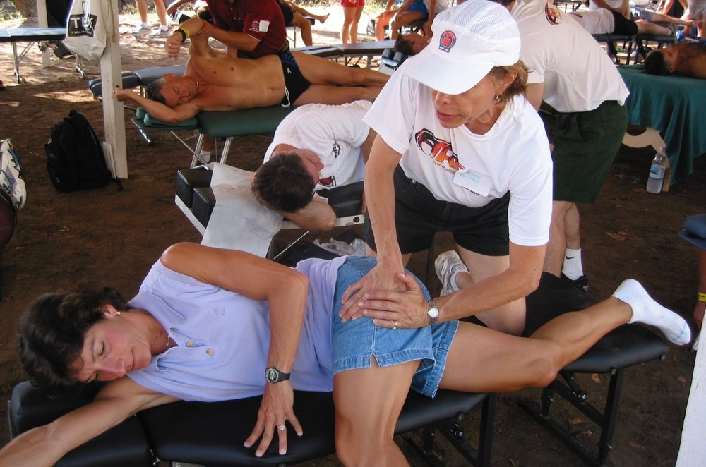 Treating athletes at Ironman Kona HI