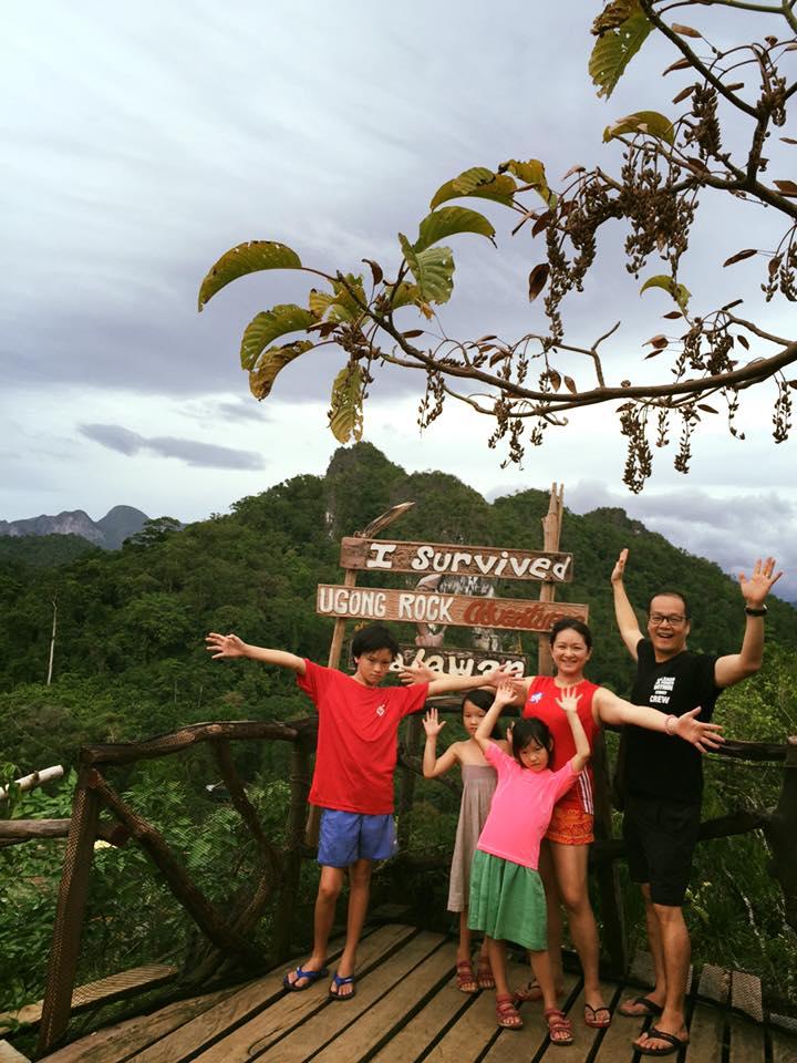 After climbing Ugong Rock, Palawan
