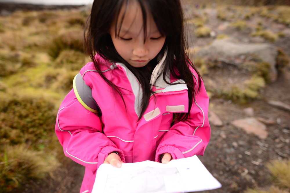 Summer was team leader for the day of the hike and was holding onto the map to ensure we didn't go astray :)